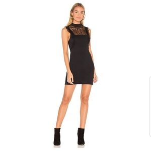 Free People Black Lace Little Black Dress